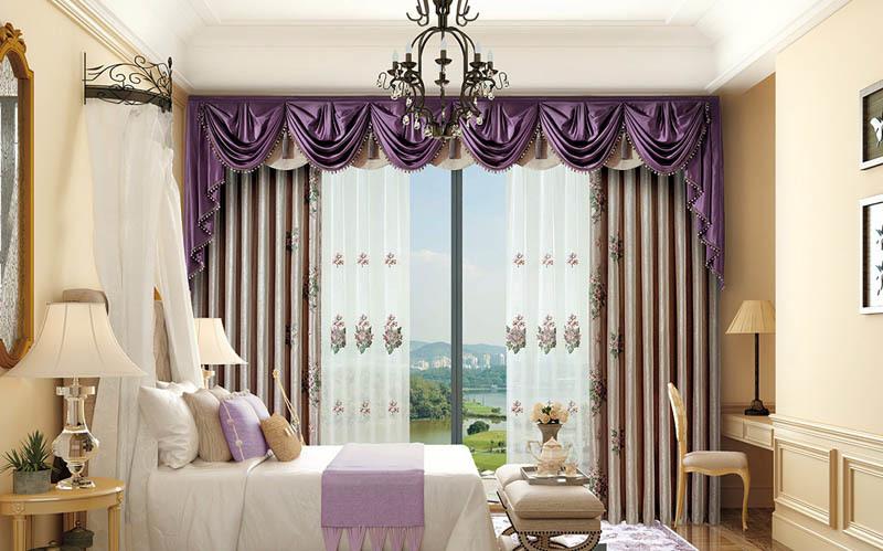伊莎莱窗帘美式风格窗帘A1803-37G美式风格质量不错