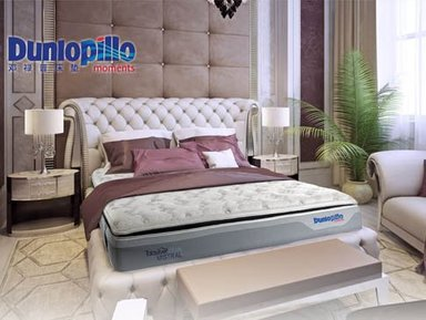 进口家居邓禄普奇迹乳胶床垫 Dunlopilloi床垫 效果图