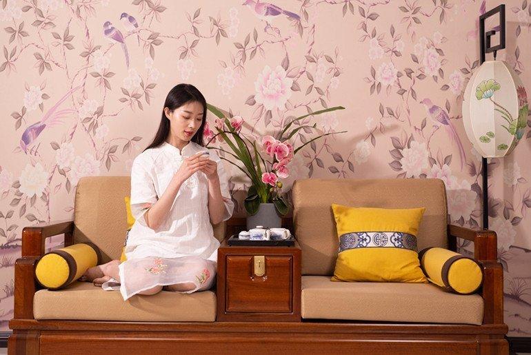 喜之林乌丝檀木实木沙发质量确实不错
